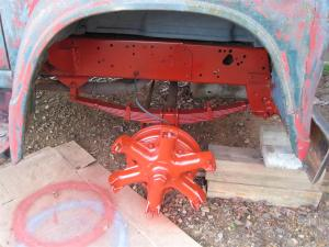 Front Axle Regal Red